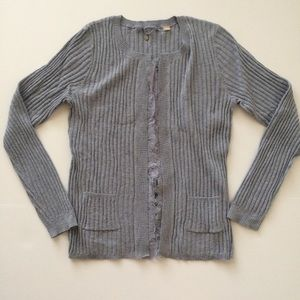 Knitted & Knotted Lace Trimmed Cardigan
